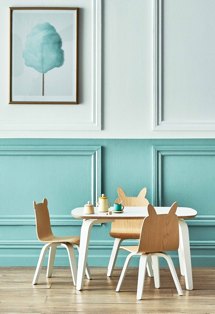"These plywood pieces cope with bumps, and the laminate tabletop is easy to clean. Oeuf 'Play' table, $429, and 'Bear' and 'Rabbit' chairs, $369 each, all [Kido Store](https://www.kidostore.com/|target=""_blank""