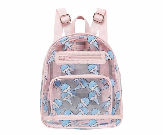 "'Ice Cream' backpack, $39.95, [Seed Heritage](https://www.seedheritage.com/|target=""_blank""|rel=""nofollow"")."