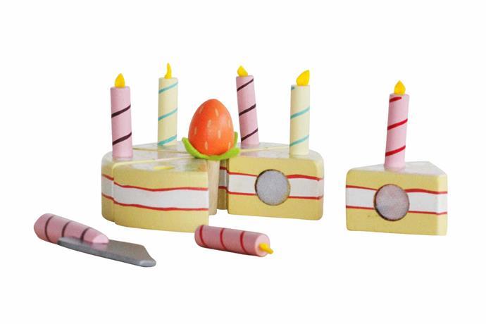 "Le Toy Van vanilla birthday cake, NZ$39, [Father Rabbit](https://fatherrabbit.com/|target=""_blank""|rel=""nofollow"")."