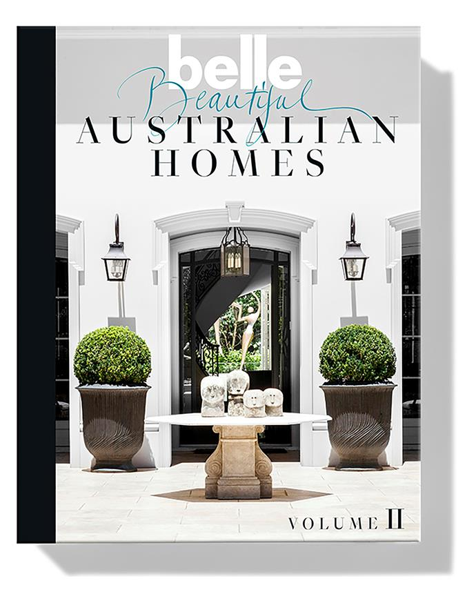 "**BELLE BEAUTIFUL AUSTRALIAN HOMES** Step inside Australia's most beautiful homes with the second hardcover tome from Belle. More than 40 inspiring interiors by architects and designers such as Thomas Hamel, Nick Tobias, Justine Hugh-Jones, Hannah Tribe and Greg Natale are collected in this elegant 348-page volume, taking readers on a veritable style odyssey from Bendigo to Bowral and Portsea to Point Piper. *Available from [Magshop](https://www.magshop.com.au/belle-beautiful-australian-homes-2|target=""_blank""