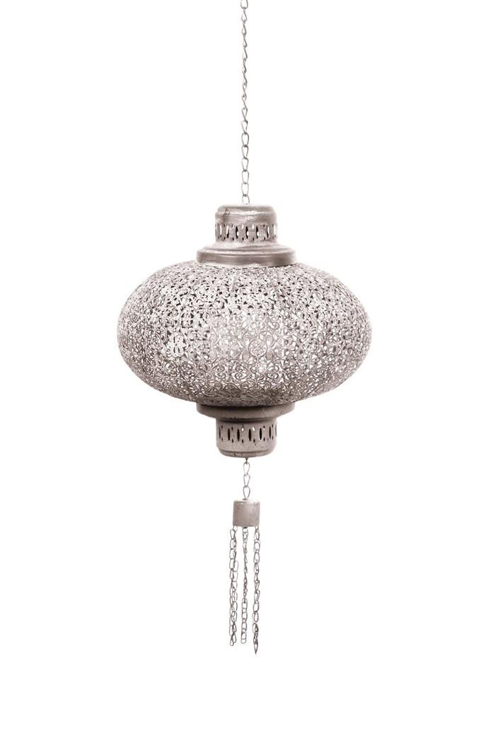 'Marakesh' metal pendant light, from $145, Papaya.