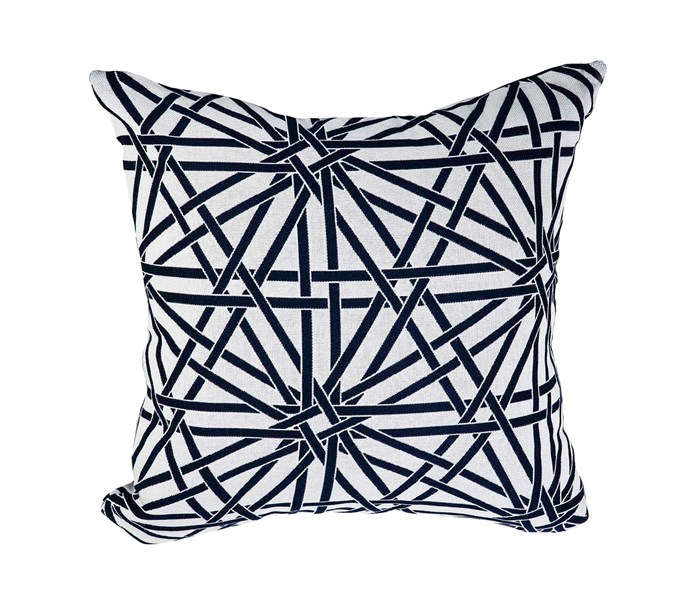 'Jewel Marrakesh' medium outdoor cushion in Sunbrella acryllic, $189, Satara.