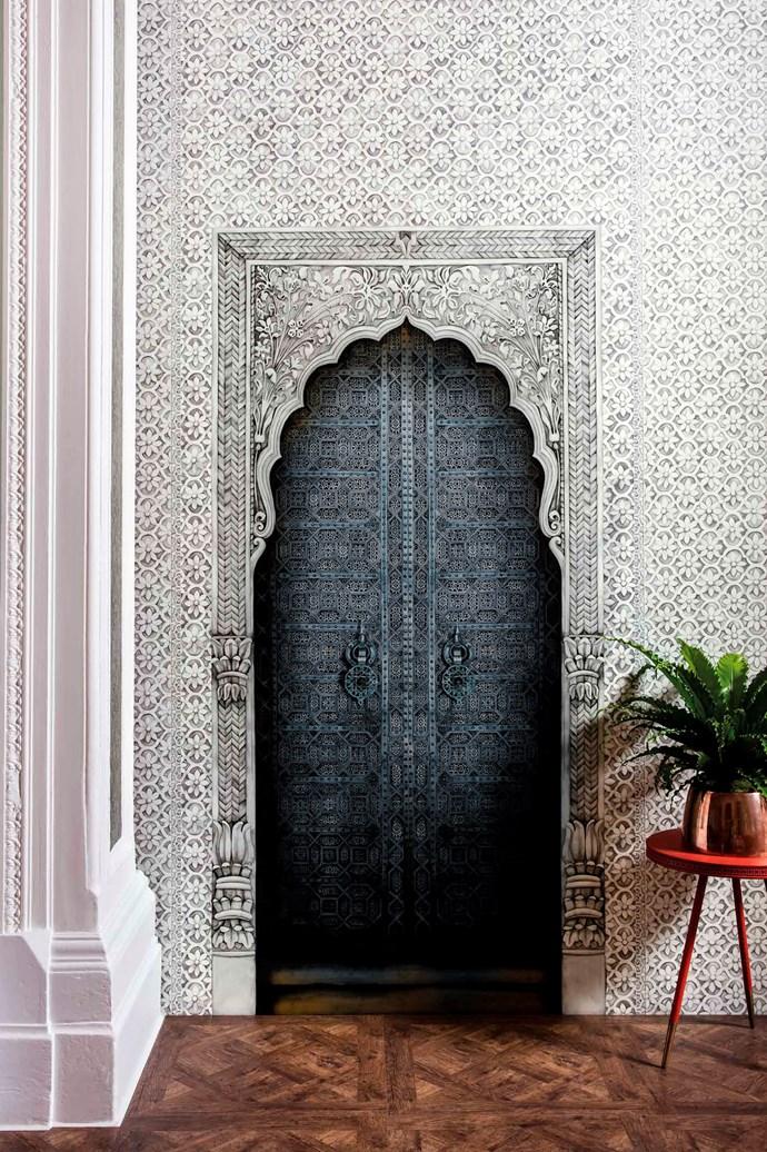 Cole & Son Martyn Lawrence Bullard 'Bahia' non-woven wallpaper in colour #113/4012, $1055/5m roll, Radford.