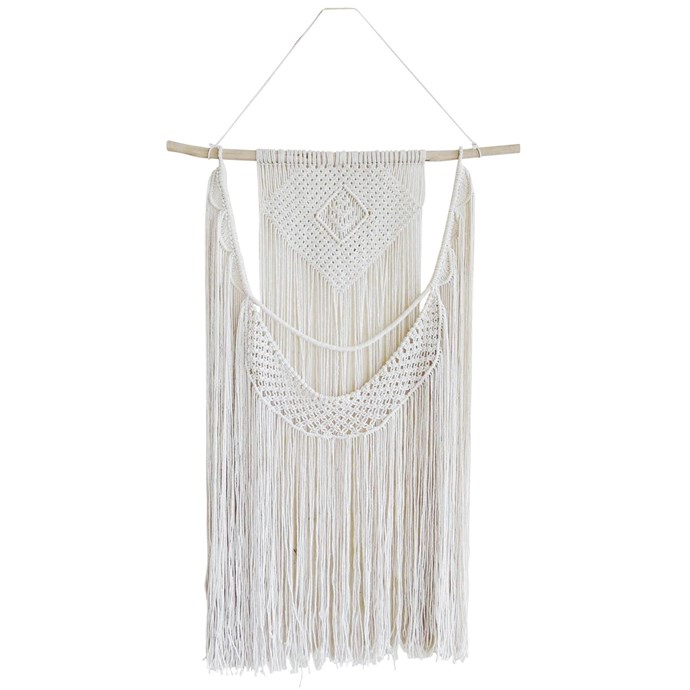 Luliti' cotton wallhanging, $219, Uniqwa Furniture Collections.