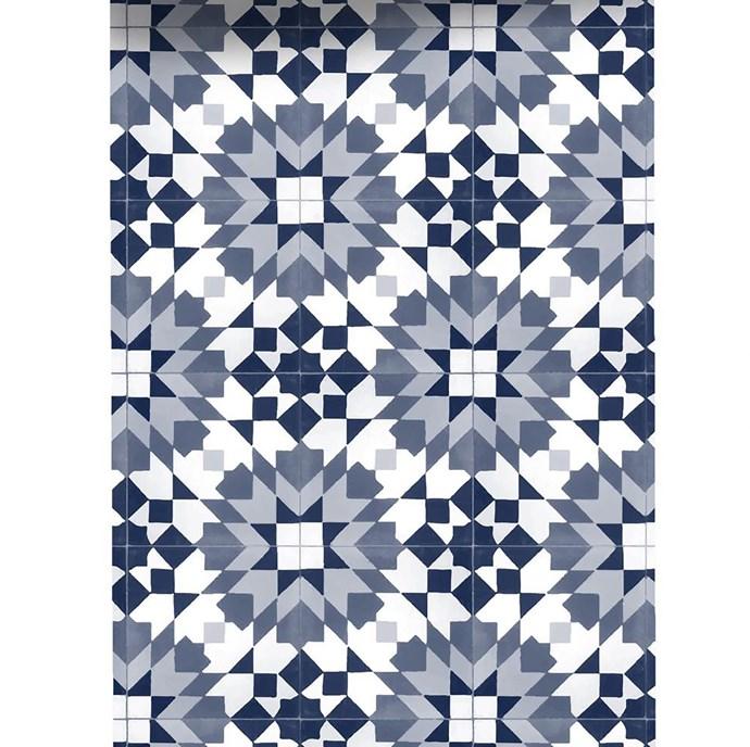 Grace Garrett 'Meknes' non-woven wallpaper in Denim, from $45/60cm panel in custom length, Sparkk.