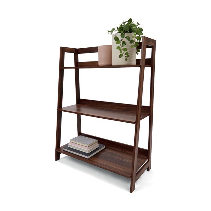 "Walnut Look bookshelf, $35, [Kmart](https://www.kmart.com.au/product/walnut-look-bookshelf/2335312|target=""_blank""|rel=""nofollow"")"