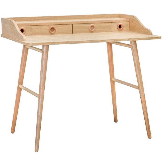 """Lulea Office Desk, $429, [Temple & Webster](https://www.templeandwebster.com.au/Lulea-Office-Desk-OF705-DW-CAFU1013.html target=""""_blank"""" rel=""""nofollow"""")"""