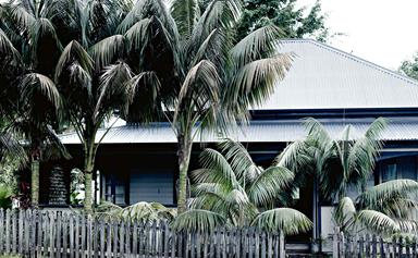 A traditional Queenslander home with all-white interior