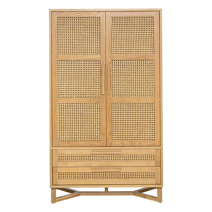 "Raffles 2-door wardrobe in Natural and Rattan, $1199, [Freedom](https://www.freedom.com.au/|target=""_blank""|rel=""nofollow"")"