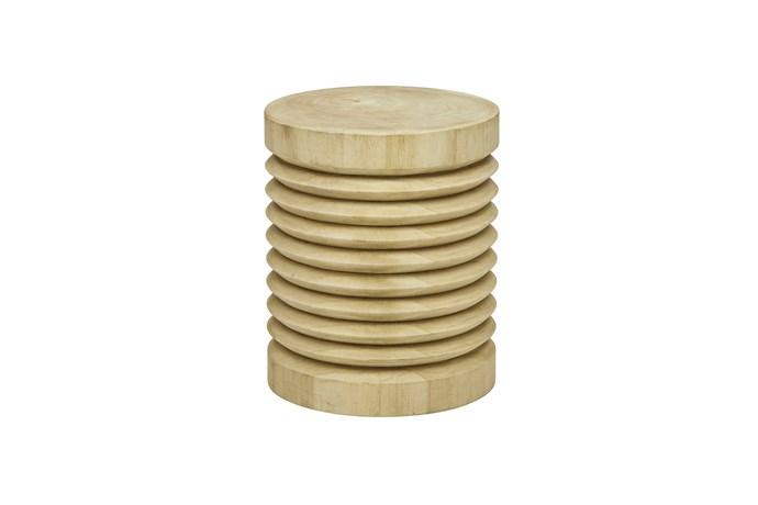 "Southport ""Ripple"" stool in Driftwood, $680, [GlobeWest](https://www.globewest.com.au/|target=""_blank""|rel=""nofollow"")"