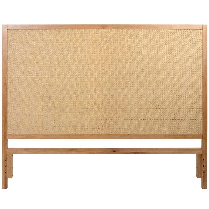 "Daintree oak and rattan bedhead, $499 for queen, [Temple & Webster](https://www.templeandwebster.com.au/|target=""_blank""