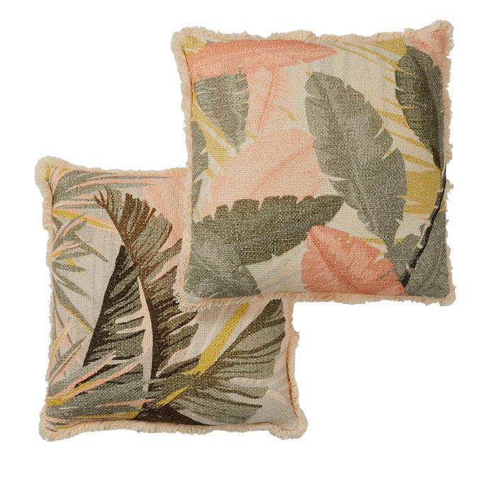 "Aruba cushions, $129.95 for set of 2, [OZ Design Furniture](https://ozdesignfurniture.com.au/|target=""_blank""|rel=""nofollow"")"
