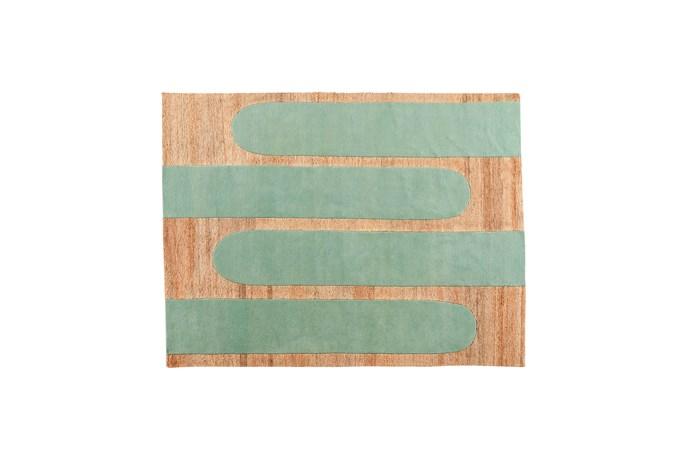 "Popsycle rug in Mint (2.3m x 3m), $4500, [Jardan](https://www.jardan.com.au/|target=""_blank""|rel=""nofollow"")"