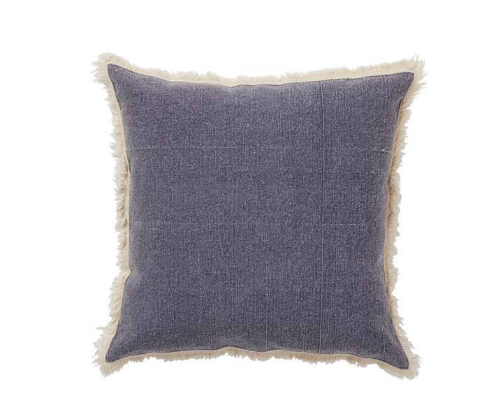 "Amalfi ""Oxford"" cotton cushion in Blue, $44.95, Home & Giving"