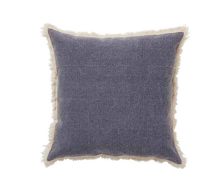 """Amalfi """"Oxford"""" cotton cushion in Blue, $44.95, Home & Giving"""