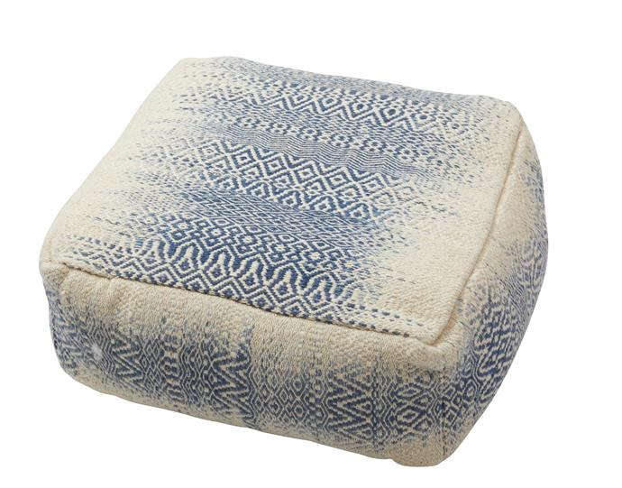 "Vallarta pouf, $349.95, [Sofas Direct](https://www.sofasdirect.com.au/|target=""_blank""|rel=""nofollow"")"