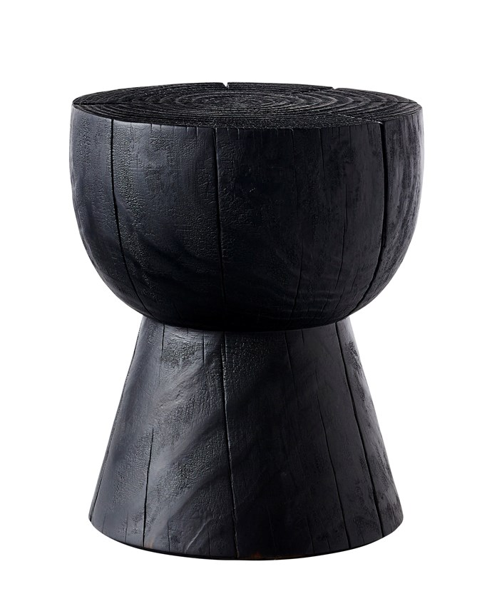 """Egg Cup stool in Scorched, $750, [Mark Tuckey](https://www.marktuckey.com.au/