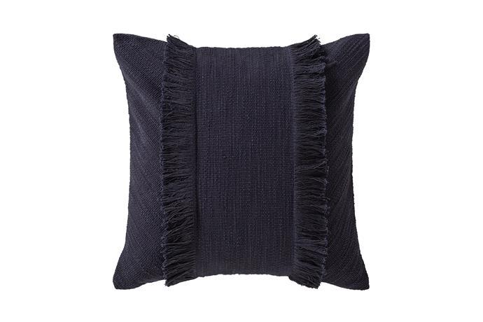 "Long Tide cushion in Midnight, $69.95, [Sheridan](https://www.sheridan.com.au/|target=""_blank""|rel=""nofollow"")"