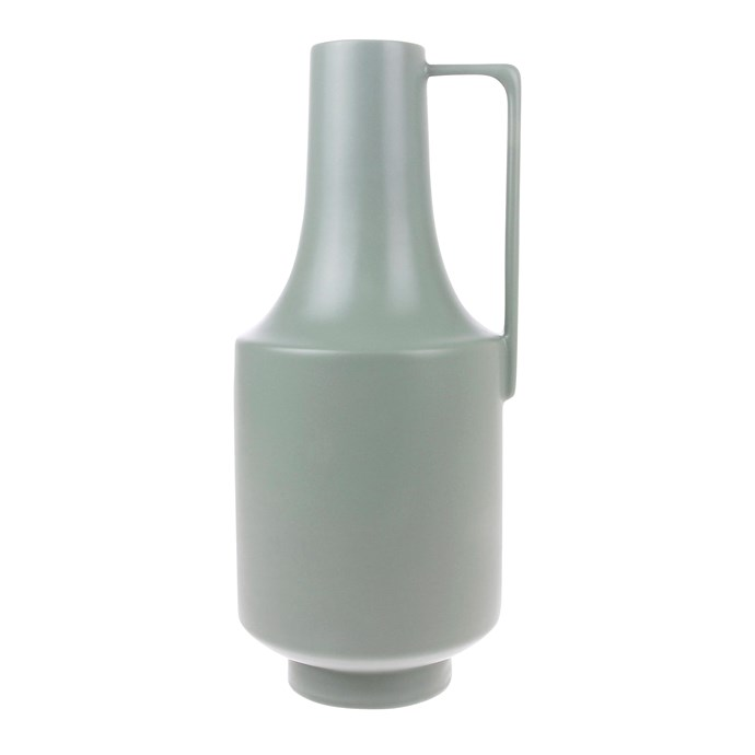 "Ceramic vase with handle in Green, $49.95, [House of Orange](https://www.houseoforange.com.au/|target=""_blank""