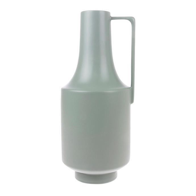 "Ceramic vase with handle in Green, $49.95, [House of Orange](https://www.houseoforange.com.au/|target=""_blank""|rel=""nofollow"")"