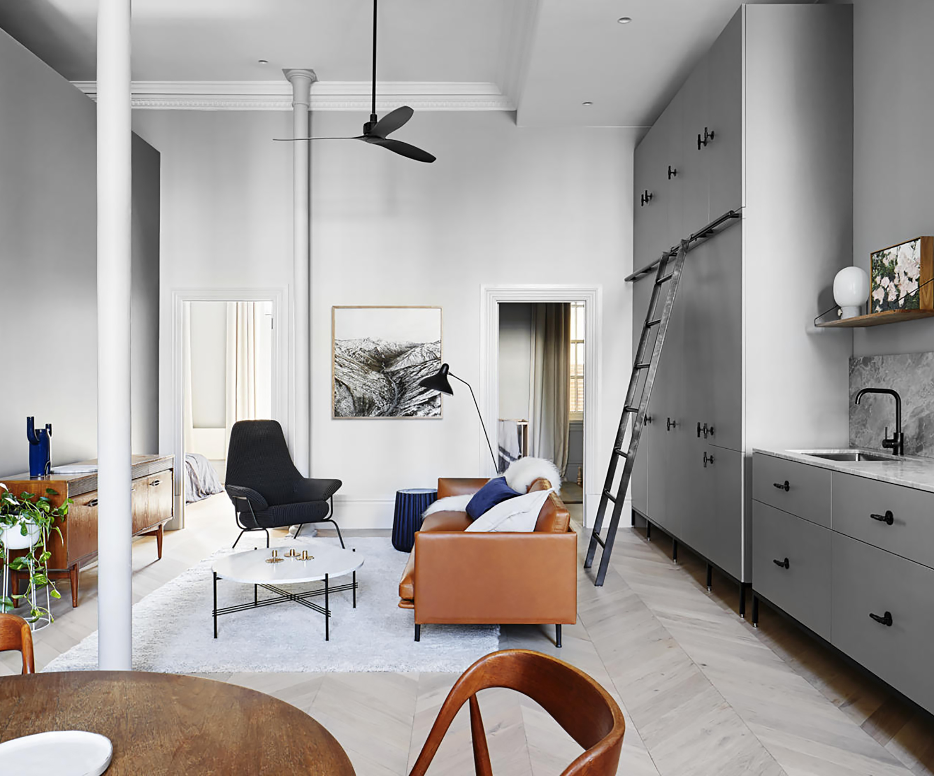A small flat that's big on style