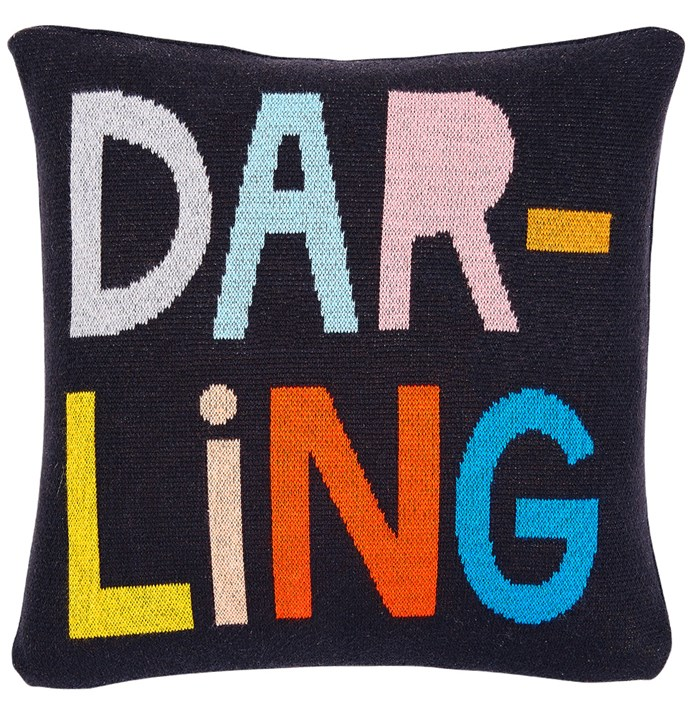 "'Darling' mini cushion cover, from $49, [Castle](https://www.castleandthings.com.au/product/darling-cotton-knit-cushion-cover/|target=""_blank""