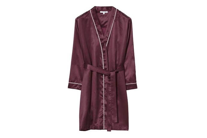 "Elorah Womens Robe, $249, [Sheridan](https://www.sheridan.com.au/elorah-womens-robe-s45y-b246-c624-610-mulberry.html|target=""_blank""|rel=""nofollow"")"