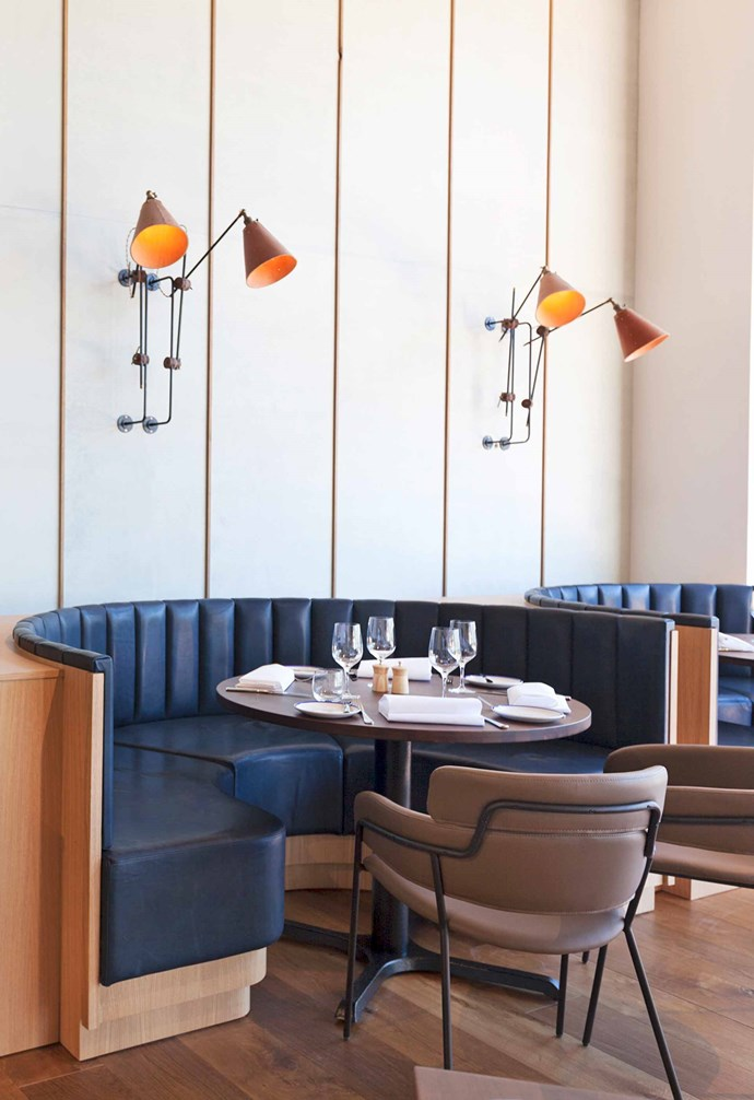 The leather-and-brass booths at Rick Stein At Bannisters are a great spot to relax, chat and observe.