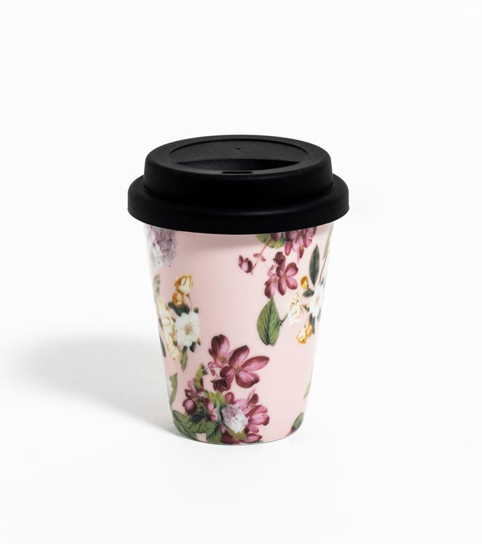 """Fashion Series reusable latte cups, $59.95, [Vittoria](https://www.vittoriacoffee.com/shop/machines-and-accessories/vittoria-coffee-set-of-6-fashion-series-ceramic-latte-cups-with-reusable-takeaway-silicon-lids