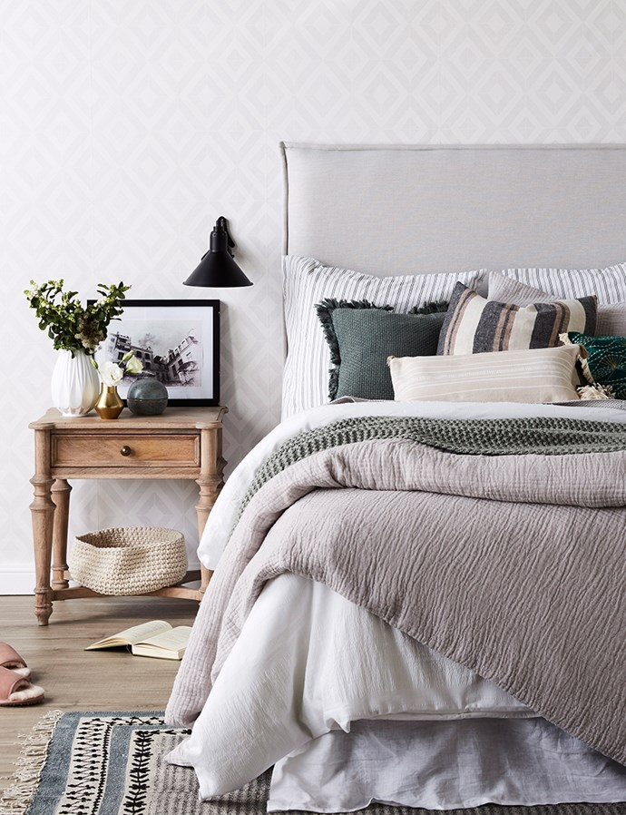 Scared of colour? Start with a neutral base and add in soft, nature-inspired tones and textures. *Image: Kristina Soljo/bauersyndication.com.au*