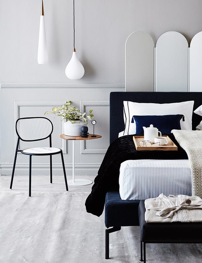 Pendant lights are a fabulous and functional way to decorate a bedroom. *Image: John Paul Urizar/bauersyndication.com.au*