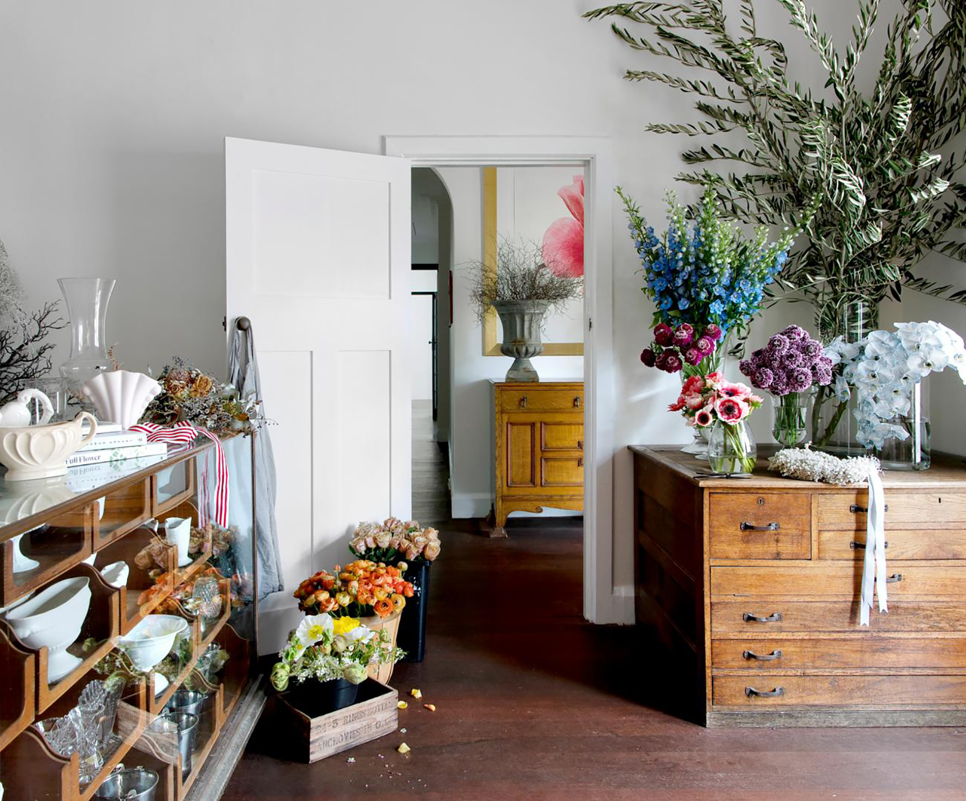 Inside a florist's restored period home and workspace