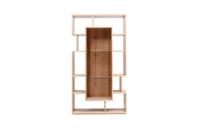 """**'Amber' wall unit**: A clever hybrid design in timber that combines a bookshelf and display capacity in one 100x180cm piece. Available in various timber and stain options; this one is crafted from wormy chestnut, $3099. [ozdesignfurniture.com.au](https://ozdesignfurniture.com.au/amber-wall-unit-in-wormy-chestnut/