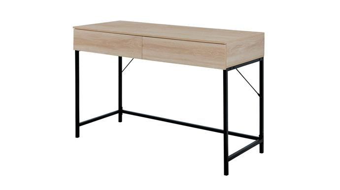 """**'Kensington' desk**: This is how you add an on-trend industrial vibe to your home office without breaking the bank. Made from laminated particleboard with powdercoated-metal legs, this attractive design measures a versatile 116x48cm, $59. [bigw.com.au](https://www.bigw.com.au/product/kodu-kensington-desk-oak/p/804865/
