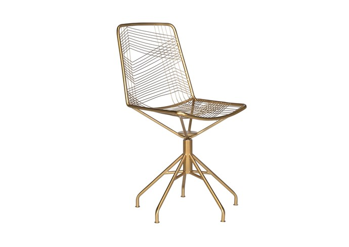 """**'Olmec' chair in Gold**: This gold-toned metal swivel chair embraces business and bling in equal measure. Its airy openwork has been handcrafted using traditional welding techniques. Standing 56cm high, it's also scratch-resistant, $299.  [freedom.com.au](https://www.freedom.com.au/storage/home-office/all-home-office/23928558/olmec-swivel-office-chair-gold-colour