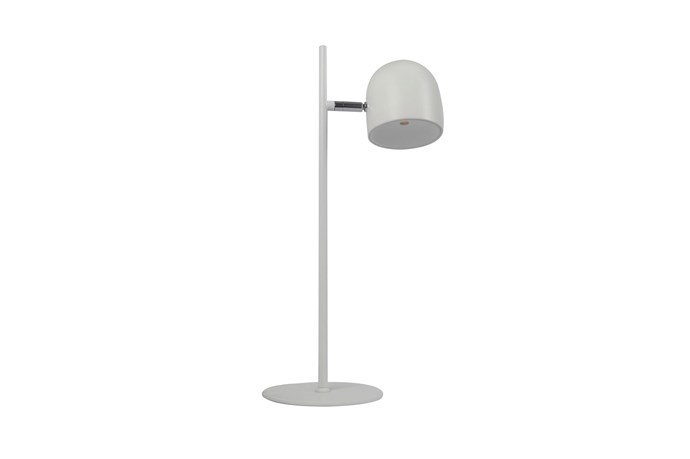 """**LEDlux 'Blakely' table lamp in White**: This functional, fixed-arm lamp with powerful LED globe allows you to adjust lighting levels with a touch to suit the type of work you're doing. The simple form is crafted from metal and stretches to 46cm, $139. [beaconlighting.com.au](https://www.beaconlighting.com.au/ledlux-blakely-table-lamp-in-white