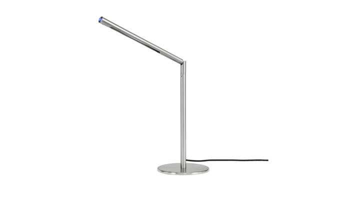 """**Brilliant 'Lindsey' desk lamp in Satin Nickel**: This slimline, energy-efficient LED lamp is made from metal with a smooth satin finish. The 30cm-high design features a long adjustable arm that allows you to aim direct light just where you need it, $58. [bunnings.com.au](https://www.bunnings.com.au/brilliant-5w-satin-nickel-lindsey-led-desk-lamp_p4371117/