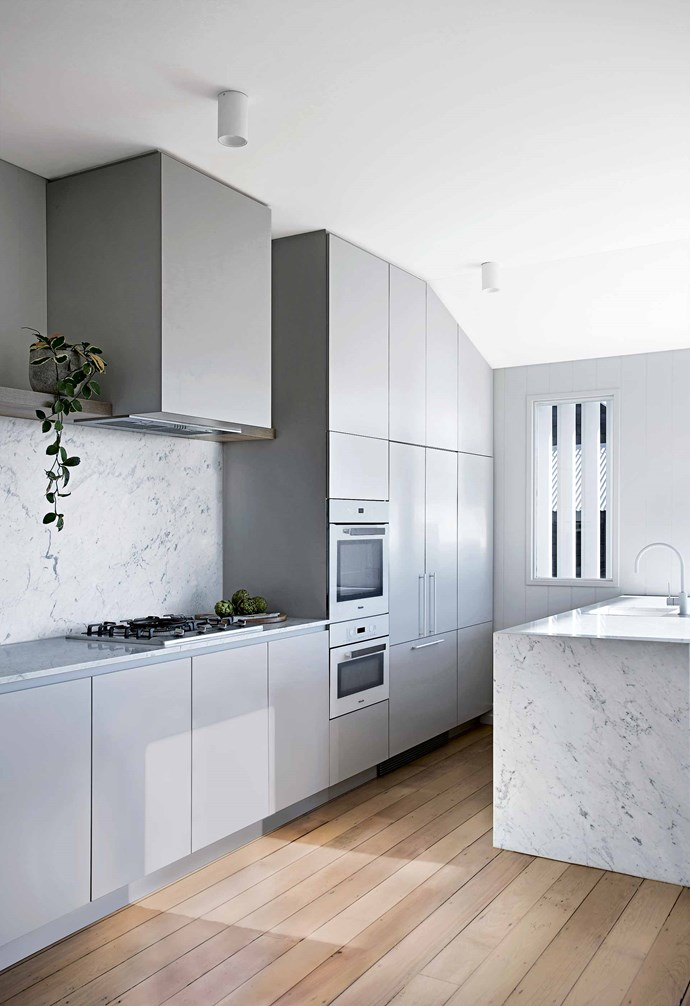 """Rather than extend into the green space or build up, they kept to the house's 90-square-metre footprint but organised the rooms around the [natural light](https://www.homestolove.com.au/how-to-increase-natural-light-in-home-15836