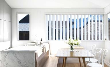 A compact worker's cottage in Brisbane received a modern reinvention