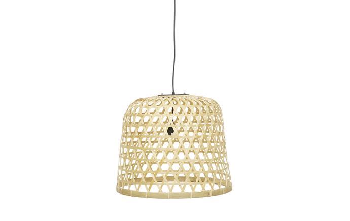 "'Airlie Woven' bamboo and rattan pendant light, $290, [globewest.com.au](https://www.globewest.com.au/|target=""_blank""|rel=""nofollow"")"