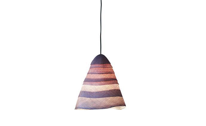 "Pinch 'Beata' linen pendant light, $1830, [spenceandlyda.com.au](https://www.spenceandlyda.com.au/?SID=7dck3t75l2er54jjg9mktku885/|target=""_blank""|rel=""nofollow"")"