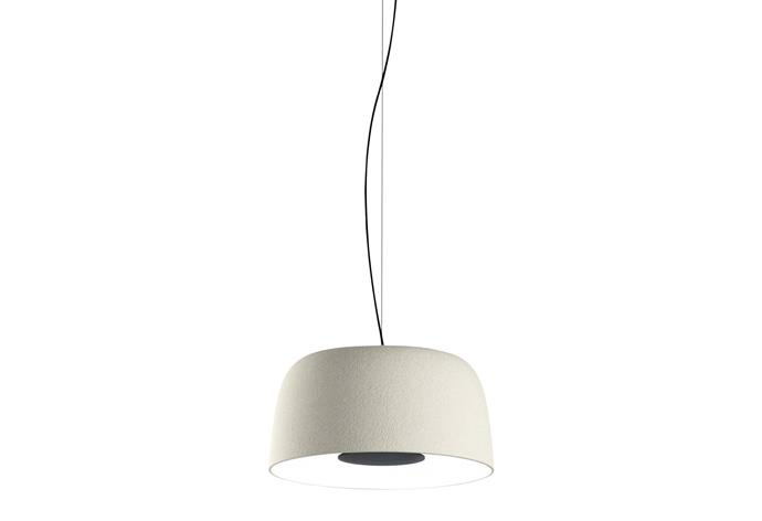"'Djembé' polyethylene and aluminium pendant light, from $1705, [estlighting.com.au](https://estlighting.com.au/|target=""_blank""