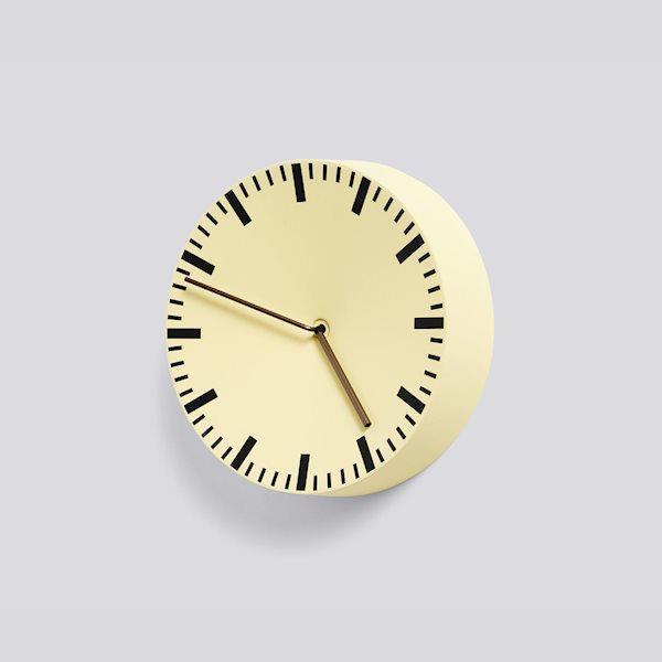 Analog Light Yellow clock