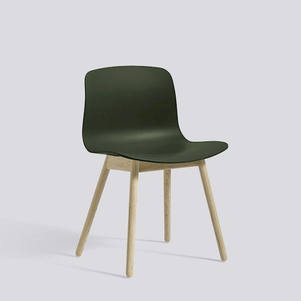 AAC 12 Soaped Solid Oak chair in Green