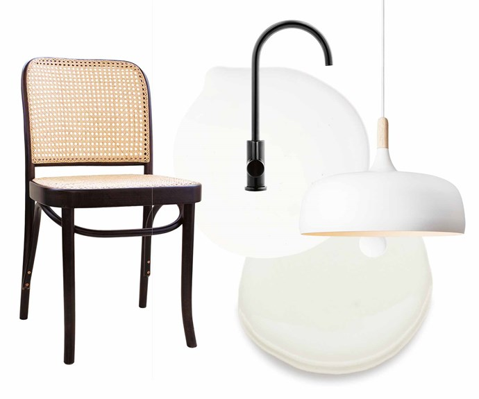 """**Get the look** (clockwise from left) 'Hoffman 811' side chair in Dark Oak, $485, [Thonet](http://www.thonet.com.au/