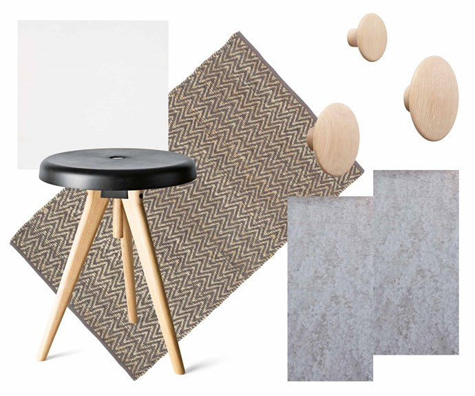 """**Get the look** (clockwise from left) Benchtop surface in Pure White, $650/sqm (installed), [Caesarstone](https://www.caesarstone.com.au/