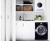 4 small laundry room organisation ideas