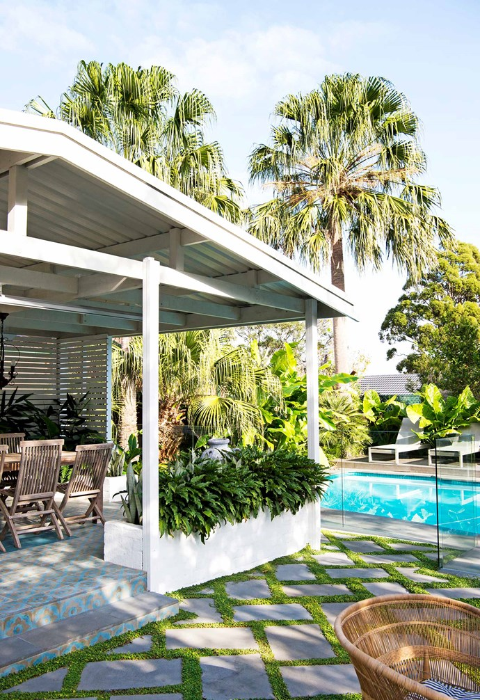 "**Back garden** Encaustic tiles from [Tiles By Kate](http://www.tilesbykate.com.au/|target=""_blank""