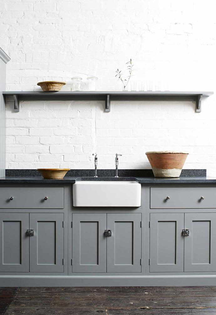 "**Save on** [kitchen cabinetry](https://www.homestolove.com.au/kitchen-cabinets-your-guide-to-choosing-right-5610|target=""_blank"") – if they're in good nick, you might be able to get away with [repainting existing cabinets](https://www.homestolove.com.au/knockout-kitchen-cabinetry-10-bold-colour-ideas-17864