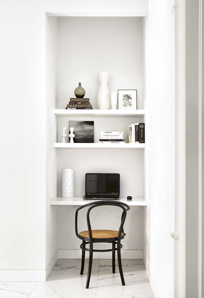 "**Spend on** a [study nook](https://www.homestolove.com.au/12-creative-ways-to-create-a-study-nook-in-your-home-17963|target=""_blank""). It'll save you from arguments about clutter at dinnertime, so splurge today to keep the peace in the future, plus you'll thank yourself for being so organised. *Design: [Palmerston Design Consultants](http://www.palmerston.ca/